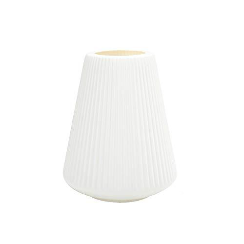 123 Life Jarrón de plástico para flores, duradero y moderno, decorativo para sala de estar, oficina, boda, centro de mesa o regalo (blanco)