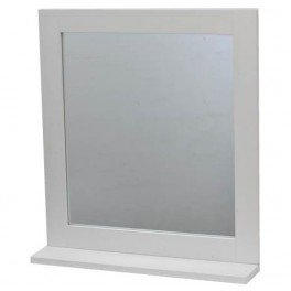 TENDANCE Miami - Espejo con Estante (Tablero DM, 48 x 10 x 53,5 cm), Color Blanco
