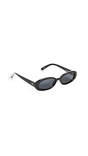 Le Specs Outta Love Oval Frame Acetate Occhiali da sole uni Nero