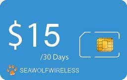 Seawolf Wireless Prepaid SIM Card Unlimited Talk + Text