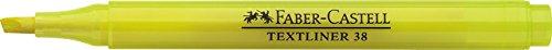 FABER-CASTELL TEXTLINER 38 - Rotuladores fluorescentes (10 unidades), color amarillo