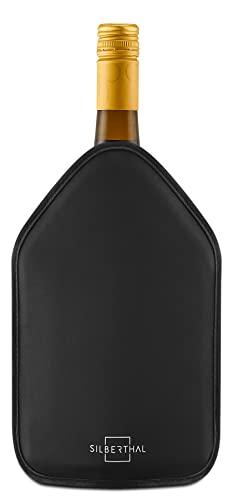 SILBERTHAL Refrigeratore Vino | Busta raffredda Vino | Raffredda Bottiglia di Vino da tavola | Refrigeratore Champagne Antiscivolo Elastico | Ghiaccio per Bottiglie Nera