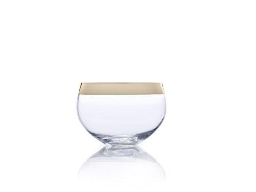 MIKASA Cuenco de Cristal Serenity, Oro, 22,86 cm