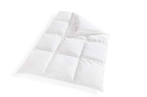 VitaloBett Winter-Daunendecke extra warm – Daunenbettdecke 1300g, 100% canadische Daunen Decke, Steppdecke Wärmeklasse 5, Schlafdecke Winterdecke Bettdecke 135 x 200 cm