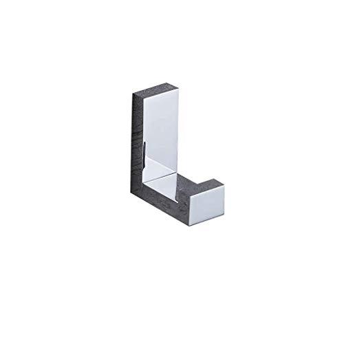 Ttms Almacenamiento for el hogar, toalla de baño Gancho de toalla de latón sólido Acabado de cromo Robas de baño y ganchos de puerta Montado en la pared Croquiador de tornillo accesorios de baño Acces