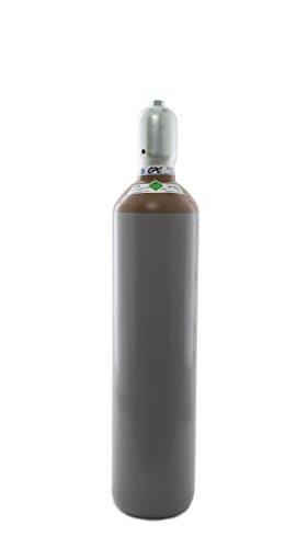 Helium 4.6 20 Liter Flasche/NEUE Gasflasche (Eigentumsflasche), gefüllt mit Helium 4.6 (Reinheit 99,996%) / 10 Jahre TÜV ab Herstelldatum/EU Zulassung - made in EU
