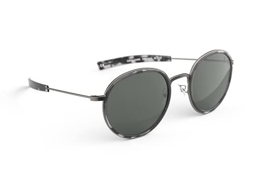 BËRGSTEIGER Gafas de sol polarizadas de Montium, para hombre y mujer, ligeras y robustas, con protección UV, ideal como regalo para montañistas, gris piedra, Montium Aviator