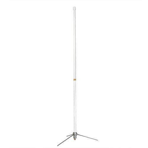 Retevis 144/430MHz Amateur Dual-Band Base Antenna,2m/70cm 7.2 dBi High Gain Base Antenna, SL16 Connector Repeater Antenna for Ham Radio Mobile Transceivers (1 Pack)