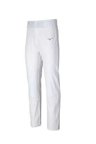 Mizuno Pro Baseballhose, Herren, Pro Woven Baseball Pant, weiß, Medium