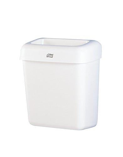 Tork 226100 Abfallbehälter B2 / Stabiler 20L Mülleimer in praktischer Größe in Weiß / Flexibel montierbar