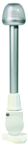 "HELLA 959910721 '9910' Series NaviLED 360 Multivolt White 9-33V DC 2 NM All-Round LED Light with White 12"" Fold Down Pole Mount Base"