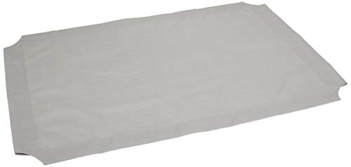 Amazon Basics Elevated Cooling Pet Bed Replacement Cover, Large, Grey