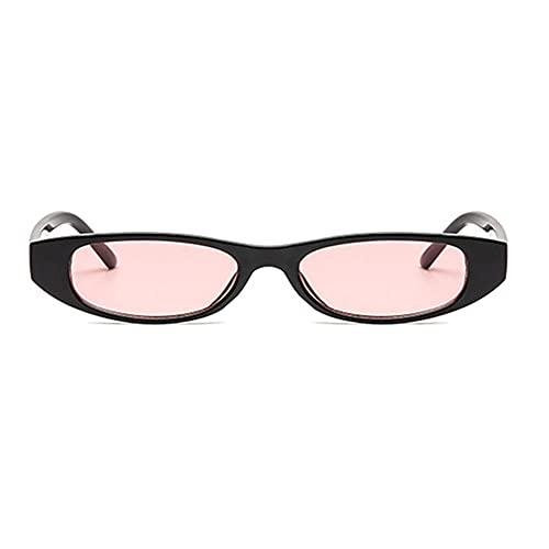 YHKF Gafas De Sol Moda Cute Sexy Ladies Cat Eye Gafas De Sol Mujer Vintage Gafas De Sol Pequeñas Mujer-Black_Pink