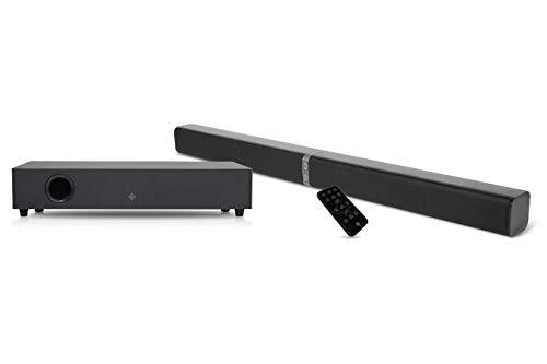 DUTCH ORIGINALS Afneembare Soundbar met Subwoofer, Bluetooth 4.2, Afstandsbediening, HDMI ARC, Optical, AUX-poort,Torenluidsprekers, 10m Afstand,2.1 Stereo Digitaal geluid