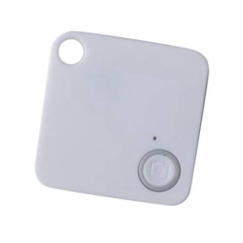 Non-brand Rastreador Llave Bluetooth 4.0 Buscador de Billetera Localizador Alarma Anti-perdida Decive - Blanco