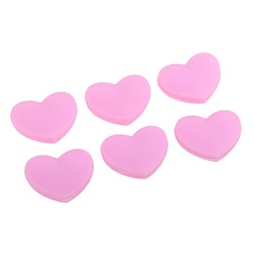 Amagogo Paquete de 6 Accesorios Deportivos Raqueta de Tenis Amortiguadores en Forma de Corazón Rosa