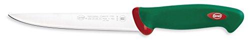 Sanelli Ligne Premana Professional,Couteau Filet Flexible Cm.18,Acier Inoxydable,Vert et Rouge,