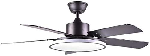 Ventilatore a soffitto con luce LED del soffitto Ventilatore a soffitto Nordico moderno camera da letto ufficio soggiorno ristorante ristorante legno massello di telecomando lampada aerodinamico lampa