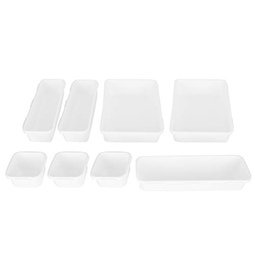 Organizador de cajones Bandejas simples Durable Fácil de limpiar para baño para cocina(white)