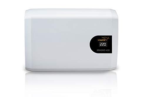 V-Guard iMagno 410 Inverter AC Stabilizer for up to 1.5 ton (Working Range: 170-270 V AC) (Digital Display) (White)