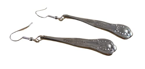 Upcycled Silver Plated Kings Sugar Tong Handle Earrings