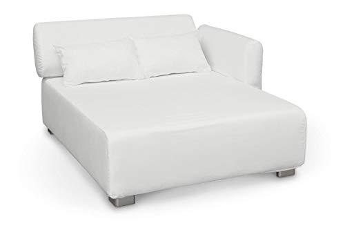 Dekoria Fire retarding IKEA MYSINGE módulo de Asiento Funda–Blanco Suave (cálido Shade)