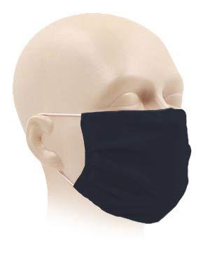 Karteo Gesichtsmaske anthrazit waschbar | Maske für Mund und Nase atmungsaktiv | Mundmaske aus zertifiziertem Oeko TEX 100 Microfaser schnell trocknend saugfähig