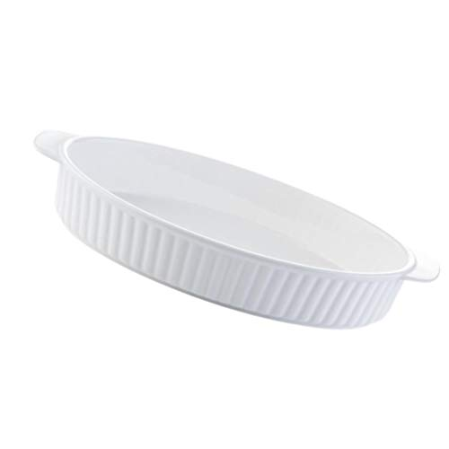 PIXNOR Oval Baking Dishes Lasagna Pan Porcelain Bakeware Table Serving Dish for Kitchen and Home