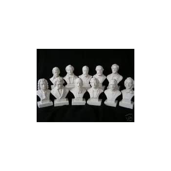 Halbe Set of 12 Music Composers Statues Statuettes