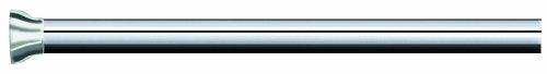Spirella Magic Ausziehbare Duschvorhangstange, verchromtes Aluminium, 125x220cm, Durchmesser 21mm, Weiß