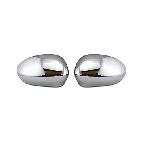 HUANHUAN Department Store Chrome RHD LHD Wing Side Side Cover Cap Cap Primed Fit para Abarth Fit for Grande Punto Fit for EVO Fit para FIAT 500 2007 2019 (Color : Chrome)