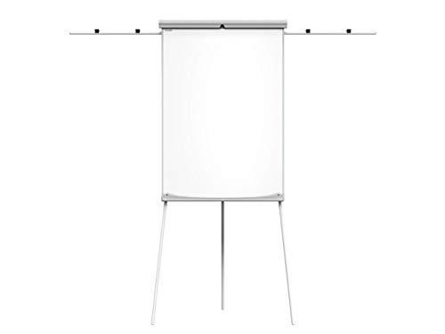 ALLboards Flipchart 100x70cm, mit Seitenarmen, Stativ, Dreibeinig, Höhenverstellbar, Whiteboard Magnettafel Magnetisch, Trocken Abwischbar