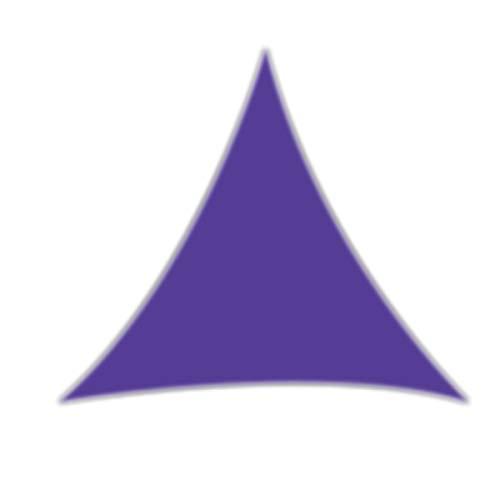 LACKINGONE Tenda Parasole a Vela Resistente per Giardino, Patio, tettoia, Protezione Solare 98% UV, Triangolo