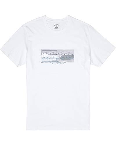 BILLABONG Inverse tee SS T-Shirt, Hombre, White, M