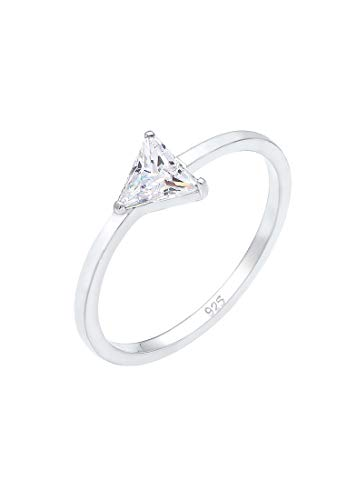 Elli Ring Damen Dreieck Triangle Geo mit Zirkonia in 925 Sterling Silber