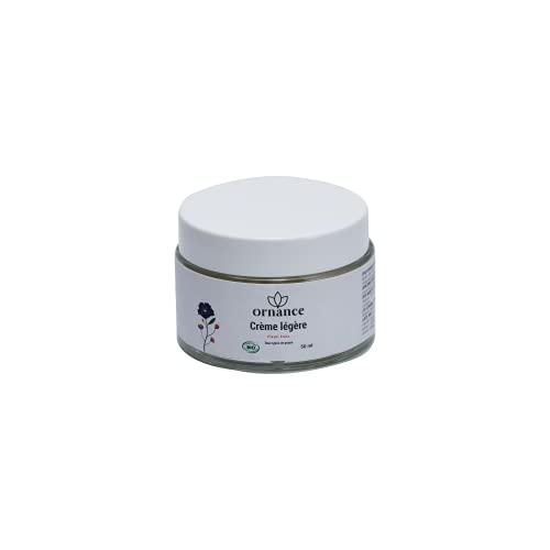 Ornance – Crema ligera orgánica y vegana para una piel hidratada en profundidad, perfume floral y fresco, protege y hidrata la piel, fabricada en Francia – 50 ml