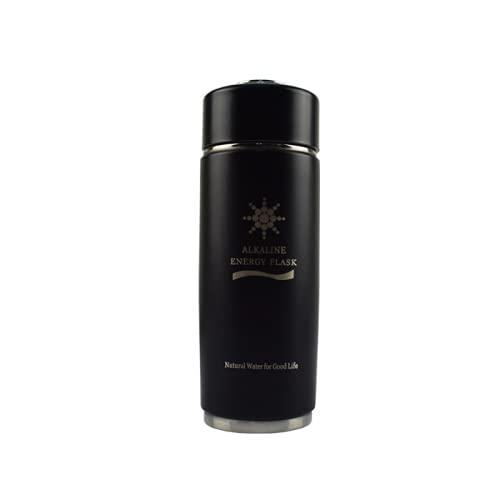 LBTM Taza térmica taza de viaje reutilizable taza de café con tapa a prueba de fugas taza de café aislada para bebidas calientes y frías agua café y té vacío acero inoxidable negro 380ml
