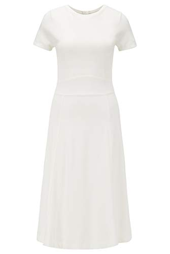 BOSS Dusca Vestido, Blanco (Open White 118), Large para Mujer