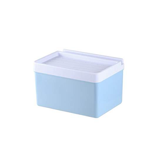 CML Simple ménage de Rangement en Plastique Reel Tray Creative Salle de Bains Porte-Papier Facile à Placer (Color : Blue)