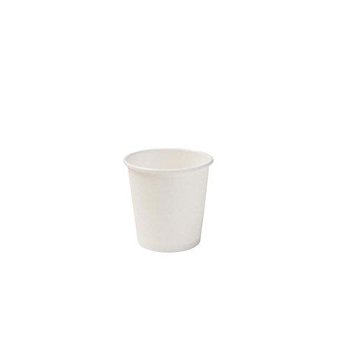 BIOZOYG Bio Espressobecher Einweg I Einmal Trinkbecher Probierbecher Partybedarf Becher biologisch abbaubar, kompostierbar I Bio Einwegbecher weiß, unbedruckt 50 Stück 100ml 4 oz