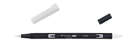 Tombow Dual brush-n95–Pennarello Doppia Punta Pennello, colore: grigio