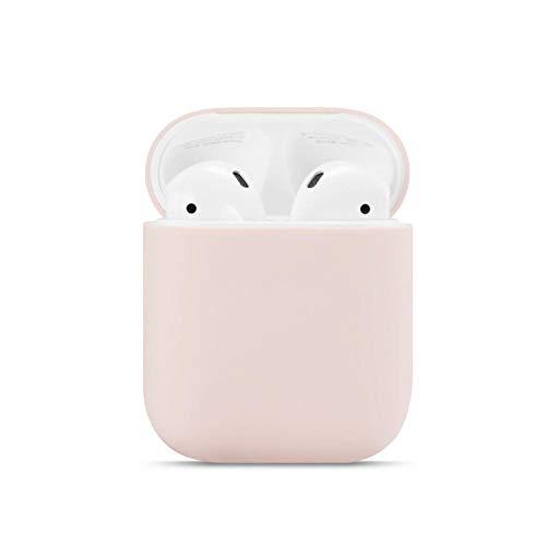 SHUOHAO para Aipords 1/2 Soft Silicone Funda Auriculares Vainas de Aire Accesorios Accesorios para Auriculares Manga Protectora AIPORDS 2 Case (Color : Sand Pink)
