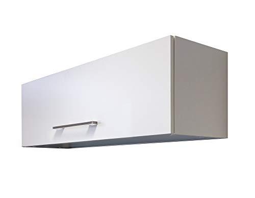 Smart Möbel Kurz-Hängeschrank 100 cm mit Klapptür Weiß - Nawa