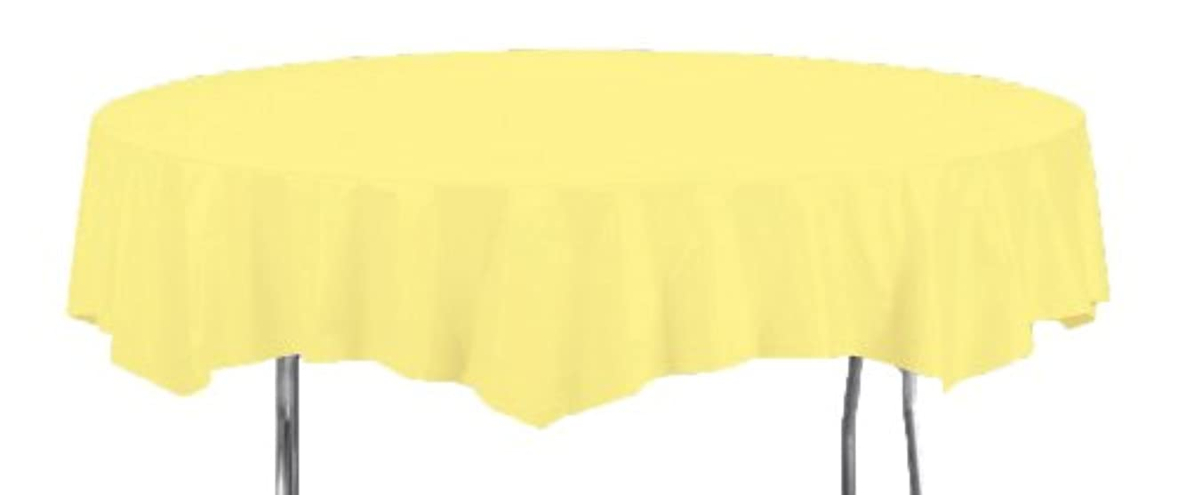 Creative Converting Octy-Round Plastic Table Cover, 82-Inch, Mimosa
