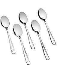 Cand Demitasse Espresso Spoons, Bistro Spoon Stainless Steel, Set of 16, 5 Inches