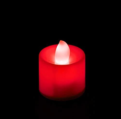 Exing Bougies Chauffe-Plat LED romantiques sans Flamme Rouge
