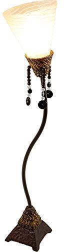 Guru-Shop Tafellamp Kokopelli Tambuli Tafel H1301 40 cm, De Natuur, Glasvezel, Kleur: De Natuur, Kleurrijke en Exotische Tafellampen