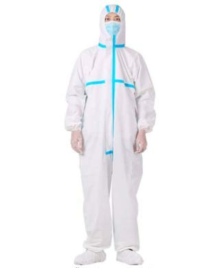 Disposable Coveralls Breathable And Dustproof Protective Clothing (Large)