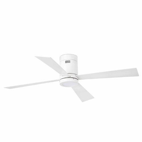 Faro Barcelona Timor 33372 – Ventilator mit LED-Licht (Leuchtmittel enthalten) LED 12 W, Stahlmotor, MDF-Flügel und PC weiß-opalem Diffuser, weiß.
