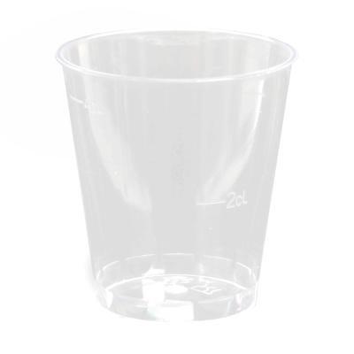 Borrelglas plastic met maatstreep bij 20 ml en 40 ml medicijnbeker 240 stuks